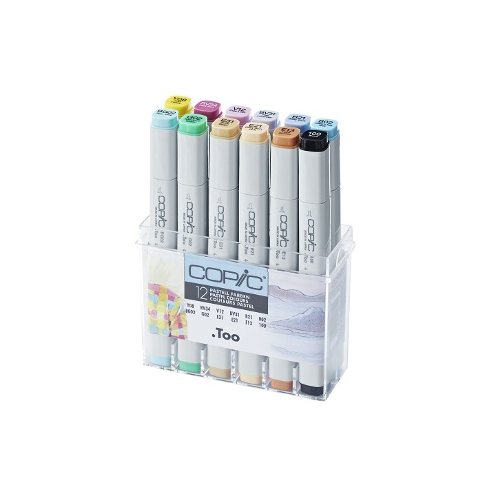 Markeri COPIC Classic Pastel Colours - set 12 kom
