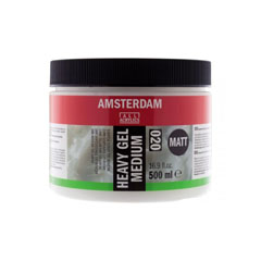 Mat gel medium 020 Amsterdam Heavy - 500 ml