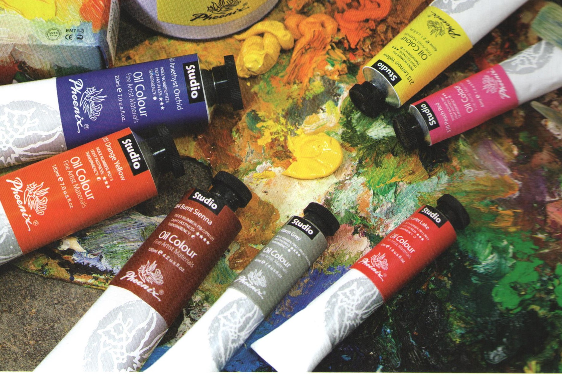 Uljana boja PHOENIX Studio Oil Colour - 120 ml - Phthalo Blue