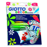 Flomasteri za tekstil GIOTTO DECOR textile/ 12 boja