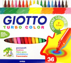 Flomasteri GIOTTO TURBO COLOR / 36 boja