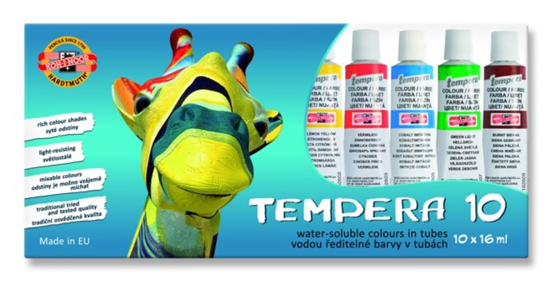 Set tempera Koh-i-noor 10-djelni - 10 x 16 ml